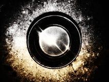Sluit omhoog abstracte kunst zwarte koffie stock foto