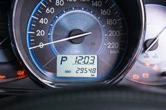 Sluit omhoog autodashboard Stock Fotografie
