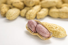 Sluit omhoog beeld van gekookte pinda's Stock Foto's