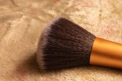 Sluit omhoog beeld van het varkenshaar van de make-upborstel stock afbeeldingen