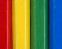 Sluit omhoog beeld van kleurrijke potloden Stock Fotografie