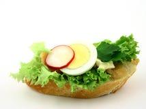 Sluit omhoog bij sandwich Royalty-vrije Stock Foto
