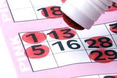 Sluit omhoog bingo Stock Fotografie