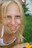 Sluit omhoog blonde Royalty-vrije Stock Afbeeldingen