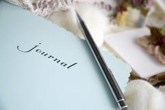 Sluit omhoog dagboek royalty-vrije stock foto
