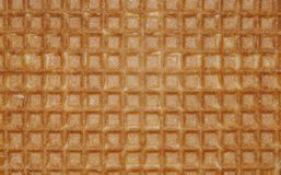 Sluit omhoog de bruine zoete achtergrond van wafelvierkanten royalty-vrije stock afbeelding