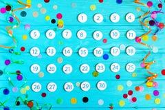 Sluit omhoog de kalender van November 2017 Royalty-vrije Stock Foto's
