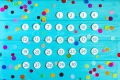 Sluit omhoog de kalender van November 2017 Royalty-vrije Stock Foto