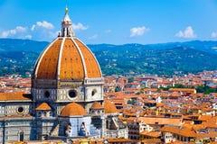 Sluit omhoog de Kathedraal van Santa Maria del Fiore in Florence, Italië royalty-vrije stock foto