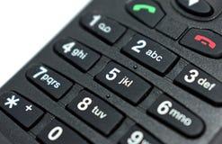 Sluit omhoog de mobiele telefoon van de toetsenbordbodem royalty-vrije stock foto