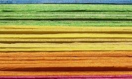 Sluit omhoog de mooie stok van de kleuren houten ijslolly stock foto