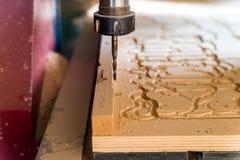 Sluit omhoog de processenhout van de malenmachine stock foto's