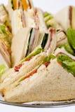 Sluit omhoog de Schotel van de Sandwich Stock Foto