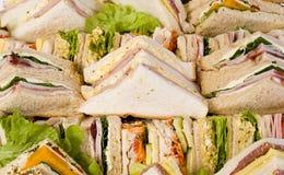 Sluit omhoog de Schotel van de Sandwich Royalty-vrije Stock Foto's