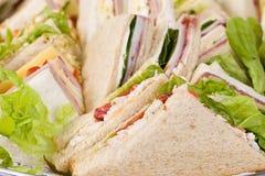 Sluit omhoog de Schotel van de Sandwich Stock Afbeelding