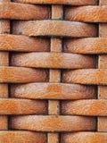 Sluit omhoog de textuurachtergrond van het weefselleer, in bruine kleur Stock Afbeelding