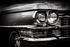 Sluit omhoog detail van herstelde klassieke Amerikaanse auto royalty-vrije stock foto's