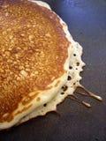 Sluit omhoog detail van pannekoek Stock Fotografie