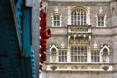 Sluit omhoog detail van Torenbrug in Londen, Engeland royalty-vrije stock afbeelding