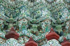 Sluit omhoog detail van Wat Arun Temple Stock Foto's