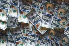 Sluit omhoog dollarachtergrond Stock Foto's