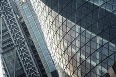Sluit omhoog fragment van het Augurkgebouw, Londen Stock Foto's