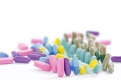 Sluit omhoog gekleurde geneeskunde Royalty-vrije Stock Fotografie