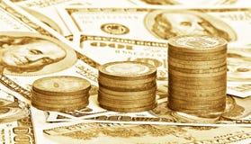 Sluit omhoog geldachtergrond Stock Afbeelding