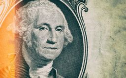 Sluit omhoog in George Washington Portrait royalty-vrije stock afbeelding