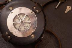 Sluit omhoog geschoten van een antiquiteit 1947 Watchclock, uitstekend concept royalty-vrije stock afbeelding