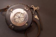 Sluit omhoog geschoten van een antiquiteit 1947 Watchclock, uitstekend concept stock foto