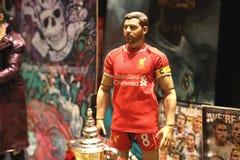 Sluit omhoog geschoten van Gerrard in actiecijfer royalty-vrije stock afbeelding