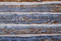 Sluit omhoog geschoten van oude houten planken om een cabine te bouwen Royalty-vrije Stock Afbeelding