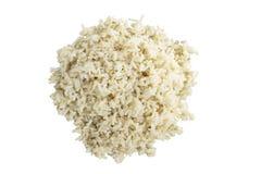 Sluit omhoog gestoomde ongepelde rijst stock foto