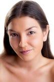Sluit omhoog gezicht van een jonge vrouw Royalty-vrije Stock Foto