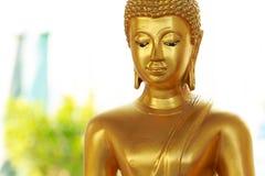 Sluit omhoog gezicht van gouden Boedha Royalty-vrije Stock Foto