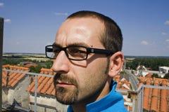 Sluit omhoog gezichtsglazen Stock Fotografie