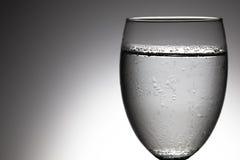 Sluit omhoog glas water Royalty-vrije Stock Foto