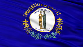 Sluit omhoog Golvende Nationale Vlag van Kentucky royalty-vrije illustratie
