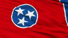 Sluit omhoog Golvende Nationale Vlag van Tennessee stock video