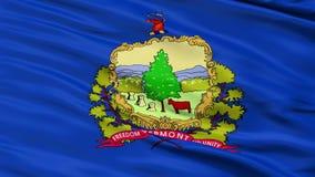 Sluit omhoog Golvende Nationale Vlag van Vermont stock footage
