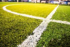 Sluit omhoog groen gras voor voetbalsport, Royalty-vrije Stock Foto