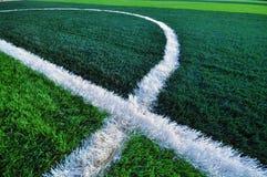Sluit omhoog groen gras voor voetbalsport, Royalty-vrije Stock Afbeeldingen