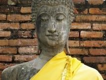 Sluit omhoog het beeldhouwwerk van Boedha Stock Afbeelding