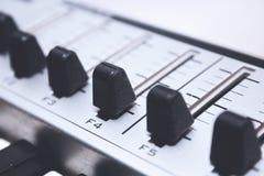 Sluit omhoog het Controlemechanisme van MIDI Royalty-vrije Stock Fotografie