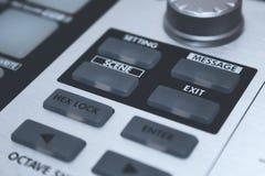 Sluit omhoog het Controlemechanisme van MIDI Royalty-vrije Stock Afbeelding