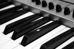 Sluit omhoog het Controlemechanisme van MIDI Royalty-vrije Stock Foto