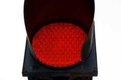 Sluit omhoog het Eindeteken van het Rood lichtverkeer Stock Foto
