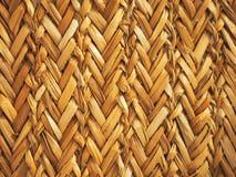 Sluit omhoog het patroon van rietmatten, als achtergrond stock foto