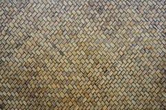 Sluit omhoog het patroon van het weefselbamboe Royalty-vrije Stock Fotografie